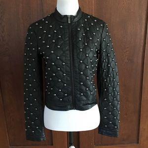 XS Bebe Black Silver Studded Jacket